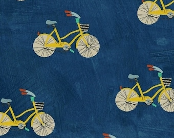 Wonder by Carrie Bloomston for Windham Fabrics - Little Bikes - Navy - 50516-2 - Cotton Quilt Fabric - Choose your Size 8-21B