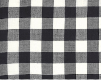Low Volume Check Charcoal Grey Woven 18201 23 by Jen Kingwell for Moda - FQ Fat Quarter BTHY Yard - Cotton Quilt Fabric