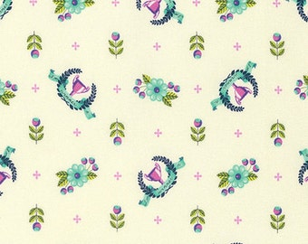 Slow & Steady by Tula Pink for Free Spirit - Winner's Circle - Blue Raspberry - FQ - Fat Quarter - Cotton Quilt Fabric 8-21
