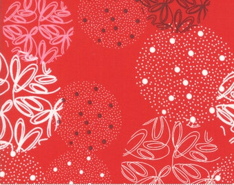 SALE Just Red by Brigitte Heitland of Zen Chic for Moda - Spheres - Lipstick - Red - 100% Cotton Quilt Fabric - Choose your Size