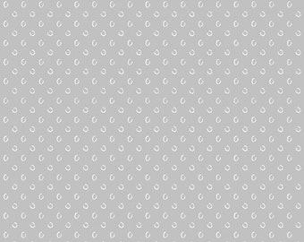 SALE Simply White by Another Point of View for Windham Fabrics - 51691-3 - Sketchy Circle - Light Grey - Select a Size - Cotton Quilt Fabric