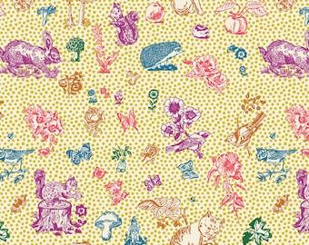 Woodland Walk Nathalie Lete Anna Maria Conservatory In My Garden - Soleil -FQ BTHY Yard- FreeSpirit Cotton Quilt Fabric 9-21