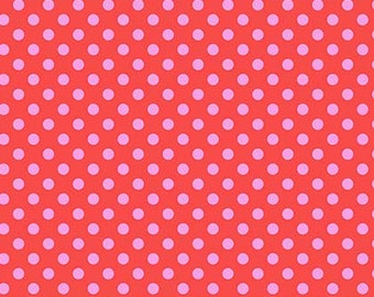 All Stars by Tula Pink for Free Spirit - Pom Poms - Poppy - Cotton Quilt Fabric - Choose Your Size