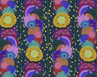 Bright Eyes by Anna Maria Horner for Free Spirit - Brimming - Pine - FQ BTHY Yard - Cotton Quilt Fabric - 9-21