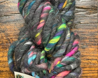 Wonderlust Yarn by Knit Collage - Dark Mixed Bulky Handspun with Love in India - 100% Wool