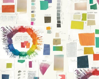 Color Theory by Carrie Bloomston for Windham Fabrics - Paper 52385D-1 - Cotton Quilt Fabric FQ BTHY Yard 921