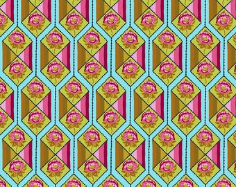 Bright Eyes by Anna Maria Horner for Free Spirit - Facets - Aqua - FQ BTHY Yard - Cotton Quilt Fabric 9-21