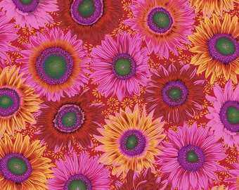 Kaffe Fassett Collective - Philip Jacobs - August 2021 - Van Gogh - Red - PWPJ111.RED - Select a Size - 100% Cotton Quilt Fabric
