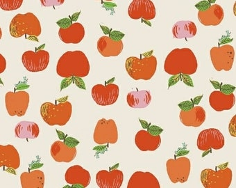 OOP Kinder by Heather Ross for Windham Fabrics - Apples - 43483-2  Red - FQ BTHY Yard Cotton Quilt Fabric 921