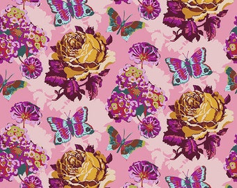 Love Always by Anna Maria Horner for Free Spirit - Clippings - Amethyst - PWAH038 - Select a Size - Cotton Quilt Fabric