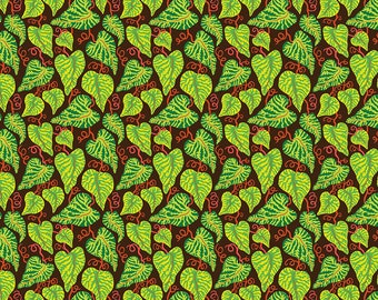 SALE Earth Made Paradise by Kathy Doughty Free Spirit Fabrics - Ivy Cool MO049.Cool Cotton Quilt Fabric - Fat Quarter FQ BTHY Yard K