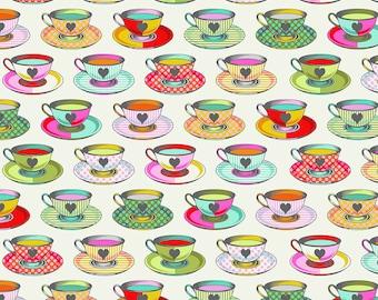 Curiouser & Curiouser by Tula Pink - Tea Time Sugar - TP163.SUGAR Cotton Quilt Fabric - Fat Quarter fq BTHY Yard