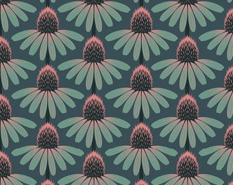 Love Always by Anna Maria Horner for Free Spirit - Echinacea - Dim - PWAH075 - Select a Size - Cotton Quilt Fabric