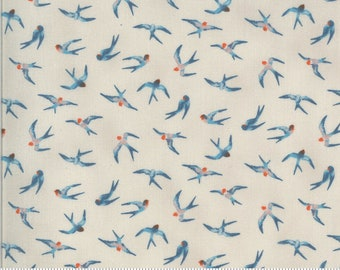 SALE Lulu by Chez Moi for Moda - Flying Hi - Linen - Natural - 33583 16 - 100% Cotton Quilt Fabric - Choose your Size K
