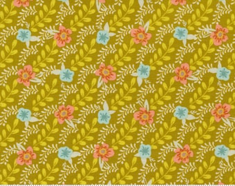 Songbook by Fancy That Design House  - Dijon Yellow Flower Buds - 45524 23 - Cotton Quilt Fabric- Fat Quarter fq BTHY By the half yard