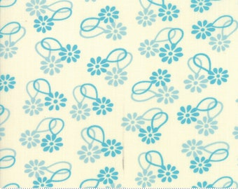 SALE Cheeky by Urban Chiks for Moda - Daisy Chain - Blue Raspberry - Light Blue - Sweet Cream - 100% Cotton Quilt Fabric - Choose your Size