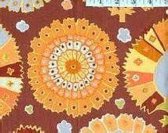 HTF OOP Kaffe Fassett- Turkish Delight - Brown GP81 - 100% Cotton Quilt Fabric BTHY