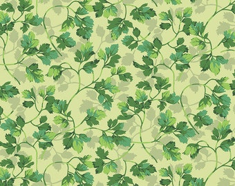 Veggies by Martha Negley for Free Spirit - Parsley - Bright - Select a Size - Cotton Quilt Fabric