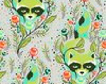 All Stars by Tula Pink for Free Spirit - Raccoon - Agave - Cotton Quilt Fabric - Choose Your Size 8-21B