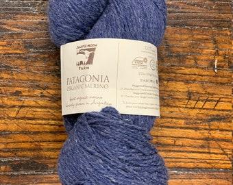 Denim Blue #115 Patagonia Organic Wool by Juniper Moon Farm - Sport / DK Weight 100% Wool - Lot # SB 7250