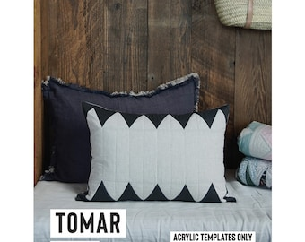 Tomar Cushion Pillow Acrylic Template featured in Quilt Recipes Pattern Book by Jen Kingwell Designs