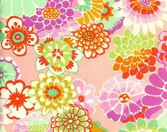 Kaffe Fassett - Asian Circles Pink GP89 - Select a Size - Fat Quarter FQ BTHY Yard - Cotton Quilt fabric 921