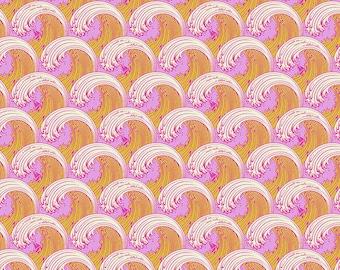 Zuma by Tula Pink for Free Spirit - White Caps - Glowfish - 1/2 Yard Cotton Quilt Fabric 8-21