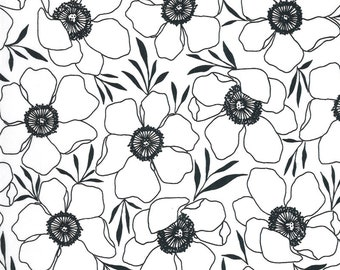 Illustrations by Alli K Design for Moda - Moody Florals - Paper White - 11502 11 - 100% Cotton Quilt Fabric - Choose your Size