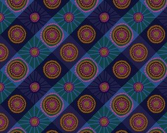 Bright Eyes by Anna Maria Horner for Free Spirit - Cosmos - Ocean - FQ BTHY Yard - Cotton Quilt Fabric 9-21
