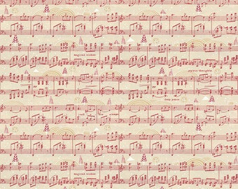 Holly Jolly by Cori Dantini for Free Spirit - Jolly Song - PWCD011.XRED - 100% Cotton Quilt Fabric - Choose your Size K
