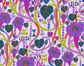 Homeward Monika Forsberg Anna Maria's Conservatory Free Spirit - Meander Lilac MF013.LILAC - Cotton Quilt Fabric - FQ BTHY Yard 9-21