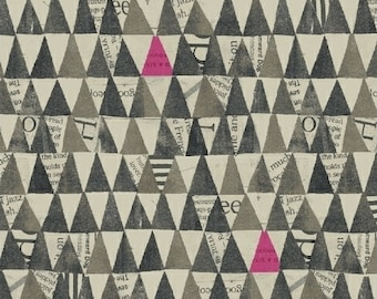 Wonder by Carrie Bloomston for Windham Fabrics - Stacked Triangles - Charcoal - 50521-5 - Cotton Quilt Fabric - Choose your Size  8-21B