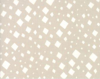 SALE Savannah by Gingiber for Moda - Diamonds - Tan Stone - 1/2 Yard Cotton Quilt Fabric