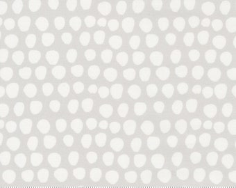 Egg Spot - Little Ducklings by Paper And Cloth for Moda Fabrics - Warm Grey 25107 14 - BTHY Yard - Cotton Quilt Fabric