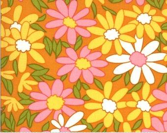 SALE Blooming Bunch by Maureen McCormick - Big Brady Flower - Cheddar 40040 13 - FQ - half or full yard- Moda Cotton Quilt Fabric
