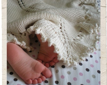 Purl Dreams Baby Blanket by Heirloom Stitches - PDF Download