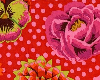 Kaffe Fassett - Big Blooms Red - GP91 - Fat Quarter BTHY Yard cotton quilt fabric 921