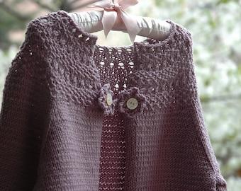 Nellie Cardigan by Heirloom Stitches - Knit Pattern - PDF Download