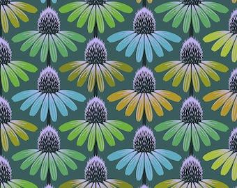 Hindsight by Anna Maria Horner for Free Spirit Fabrics - Echinacea Glow - Algae - FQ BTHY Yard - Cotton Quilt Fabric 9-21