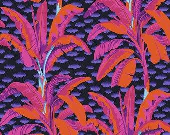Kaffe Fassett Collective - Banana Tree - Black - PWGP179 - FQ BTHY Yard -100% Cotton Quilt Fabric 921