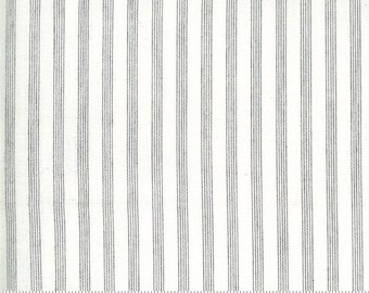 Low Volume Stripe Ivory Grey Woven 18201 13 by Jen Kingwell for Moda - FQ Fat Quarter BTHY Yard - Cotton Quilt Fabric