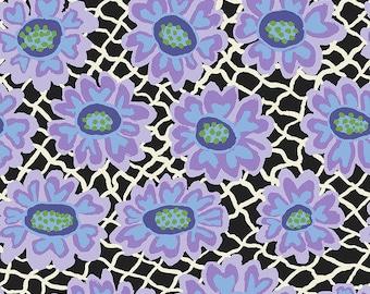 Kaffe Fassett Collective - Brandon Mably - August 2021 - Flower Net - Black - PWBM081.BLACK - Select a Size - 100% Cotton Quilt Fabric