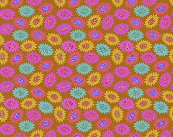 Bright Eyes by Anna Maria Horner for Free Spirit - Picky - Gold - FQ BTHY Yard - Cotton Quilt Fabric 9-21