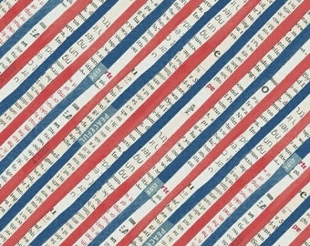 Wonder by Carrie Bloomston for Windham Fabrics - Bias Stripe - Navy - 50519-2 - Cotton Quilt Fabric - Choose your Size 8-21+B