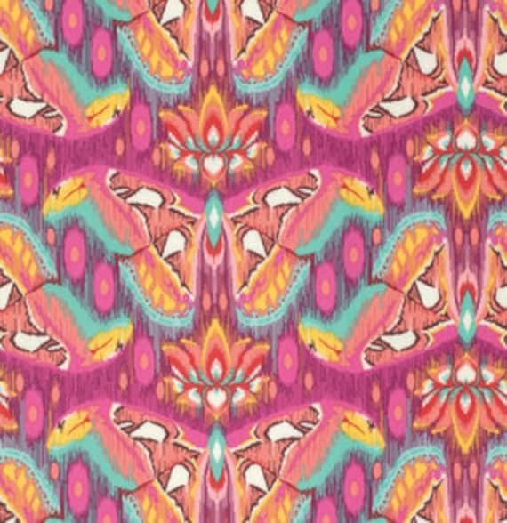 1//2 Yard Tula Pink Eden Atlas Tourmaline Abstract Butterflies Fabric