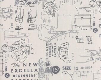 SALE Modern Backgrounds More Paper by Brigitte Heitland Zen Chic - Cloth Pattern - Light Grey 1672  14 BTHY Yard 1021