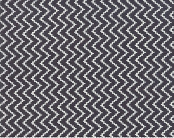 All Hallows Eve by Fig Tree Quilts for Moda - Zigzag - Midnight Black - Select a Size - Cotton Quilt Fabric