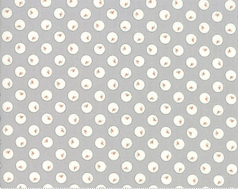 Country Christmas by Bunny Hill Designs for Moda - Snowball Dusty Grey - Select a Size - Cotton Quilt Fabric