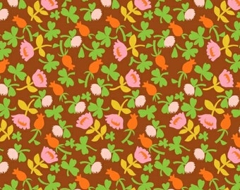 OOP Heather Ross Briar Rose for Windham Fabrics - 37027-8 Brown Calico  - FQ BTHY yard cotton quilt fabric 921