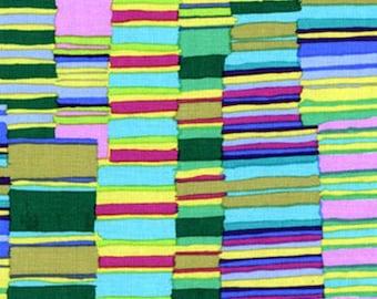 Kaffe Fassett - GP51 - Shirt Stipes Green - 1/2 yard cotton quilt fabric